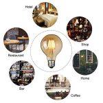 Ampoule Vintage LED, Elfeland E27 6W Ampoule Edison Lampe Rétro Antique Dimmable Ampoule Décorative Amber 600LM 2200K Lumière Blanc Chaud pour Lustres Plafonniers Modèle G80-3 Packs de la marque Elfeland image 1 produit