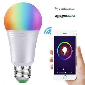 Ampoule Wi-Fi Smart Bulb Dimmable LED Light 60 W Ampoule équivalent 650 lm, télécommande avec Smart Device et contrôle vocal de Amazon Alexa et Google Home aucun Hub demandé (Cool Daylight White 7 W 6000 K E27) de la marque AUSEIN image 0 produit