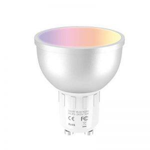Ampoule WiFi EXTSUD GU10 Ampoule Connectée Intelligente 5W Lampe LED Couleur Multicolore RGB Contrôlé par Amazon Echo Alexa, Smartphone Android et iOS, Tablette de la marque EXTSUD image 0 produit