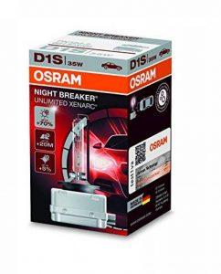 Ampoule Xénon OSRAM XENARC NIGHT BREAKER UNLIMITED D1S HID Lampe à décharge, 66140XNB, boîte pliante (1 pièce) de la marque Osram image 0 produit