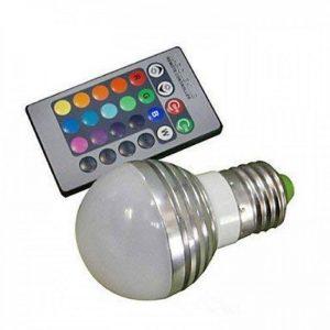 Ampoules, Ampoules domestiques, E26/E27 Ampoules Globe LED A50 1 diodes électroluminescentes LED Haute Puissance Commandée à Distance RVB 100-180lm 2000-3500K AC 85-265V Ampoules de la marque RUNGUANG LIGHTS image 0 produit