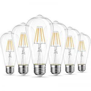 Ampoules Filament LED ST64 4W (=40W), 470Lm Blanc Chaud 2700K, Non-dimmable, Vintage Rétro Décoration, 6 Paquets, ANWIO de la marque ANWIO image 0 produit