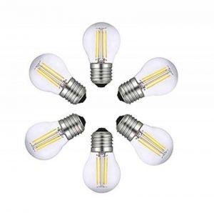 Ampoules LED E27 G45, RANBOO, 4W Equivalente à Ampoule Incandescence 40W, 400Lm Blanc Froid 6500K, AC 200-240V, Non-dimmable, Verre, Lot de 6 de la marque RANBOO image 0 produit