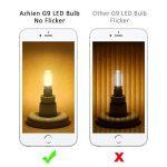 Ampoules LED G9 4W, Azhien Ampoule LED 28W 33W 40W équivalent, Lampes LED Blanches Chaudes 2700K, 200-240V AC, Sans Scintillement, Sans éclairage, Brillant, Angle de 360 ,450Lm, CRI>82, Pack de 5 de la marque Azhien image 3 produit