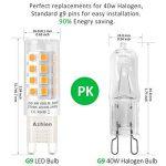 Ampoules LED G9 4W, Azhien Ampoule LED 28W 33W 40W équivalent, Lampes LED Blanches Chaudes 2700K, 200-240V AC, Sans Scintillement, Sans éclairage, Brillant, Angle de 360 ,450Lm, CRI>82, Pack de 5 de la marque Azhien image 1 produit