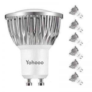 Ampoules LED GU10, 5.5W équivalent 50W, 530lm Blanc froid 6000K, 120° Larges Faisceaux,éclairage encastré, Lot de 6 unités de la marque yohooo image 0 produit