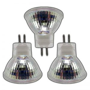 Ampoules LED Lot de 3–mR11/gU5.3lED 2W 12V dC avec 9lED sMD de lumière blanche chaude de verre 120° de vision de consommation de la marque PB-Versand image 0 produit