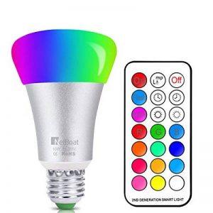 Ampoules LED RGB Couleur Changement Dimmable 10W LED Bulbs E27 RGBW avec Télécommande Telecommande Sans Fil,RGB 12 Choix de Couleur+Blanc 6500k de la marque NetBoat image 0 produit