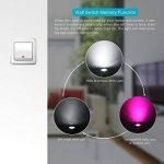 Ampoules LED RGB, Frontoppy 3W Spot à LED GU10 RGBW Ampoule à changement de couleur blanc froid dimmable avec télécommande, 200 lm, fonction de synchronisation / contrôleur et interrupteur mural à double fonction de mémoire (lot de 4) de la marque Frontop image 3 produit