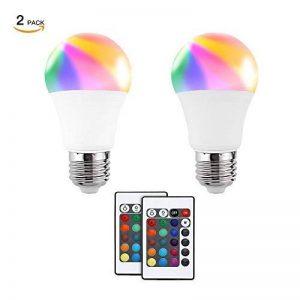 Ampoules LED RGB, Minger 5W Ampoule à LED E27 Couleur Changement LED Bulbs Dimmable avec Télécommande Sans Fil, 2 Pièces de la marque Minger image 0 produit