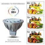 Ampoules MR16 12V LED GU5 3 4000K Blanc Naturel, AlideTech 7W 560LM Led Spot Lampe 50W Halogènes Incandescente Lumiere Équivalent, Diamètre de 50mm, Culot GU5.3, 38°, Lot de 6 de la marque AlideTech image 4 produit