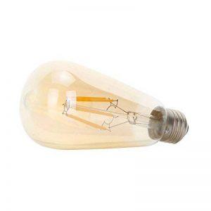 Ampoules vintage Ledsone 4W/6W E27/B22vintage ampoules LED à économie d'énergie Verre Ambre Coque style de cage d'écureuil Filament Dimmable Blanc Chaud ST64(Φ64mm) [Classe énergétique A +], ST64 E27 4W de la marque LEDSONE image 0 produit