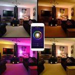 Ampoules Wi-Fi, StillCool Ampoule LED Intelligente Fonctionne Avec Amazon Echo Alexa, Wi-Fi, équivalent de 70W, minuterie, réglage de la couleur des lampes à intensité variable pour Halloween décor de fête de Noël (2PCS, 7W) de la marque StillCool image 4 produit