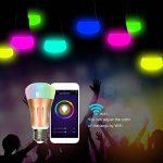 Ampoules Wi-Fi, StillCool Ampoule LED Intelligente Fonctionne Avec Amazon Echo Alexa, Wi-Fi, équivalent de 70W, minuterie, réglage de la couleur des lampes à intensité variable pour Halloween décor de fête de Noël (2PCS, 7W) de la marque StillCool image 1 produit