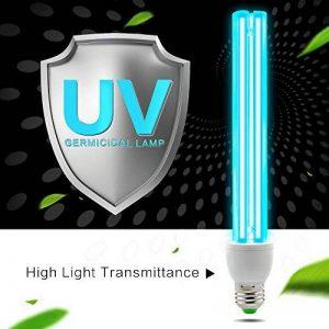 AMZTOLIFE lampe UV stérilisation d'ozone antibactérien Taux de 99% germicide lumières pour salle de bain, chambre à coucher, cuisine, bureau, hôtel, à l'école de la marque AMZTOLIFE image 0 produit