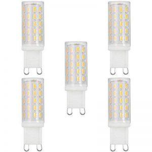 Anpro 5PCS 3W G9 LED Ampoule Equivalent 40W G9 Ampoules Halogènes/Incandescente Led Couleur Blanc Chaud Luminosité 4000K,Non Scintillant Non Dimmable, Angle Eclairage de 360°pour Salle à Manger,Chambre-Classe Energétique A+ de la marque Anpro image 0 produit