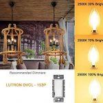 Antique ampoule LED, E12Base 2700K 4W 30W vintage Edison LED Lustre ampoules LED Chandelier ampoule, à intensité variable LED bougie ampoule à filament de tungstène pour la maison, cuisine, salle à manger, chambre à coucher, salon, Blanc chaud, Lot de image 4 produit