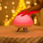 AOKARLIA Multicolor Led BéBé Night Light, Silicone Portable Lights; Lampe De Nuit, Romantique Dim Mood Lamp, Batterie Rechargeable Pour Jusqu'à 7-Heures D'Utilisation de la marque AOKARLIA image 4 produit