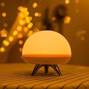 AOKARLIA Multicolor Led BéBé Night Light, Silicone Portable Lights; Lampe De Nuit, Romantique Dim Mood Lamp, Batterie Rechargeable Pour Jusqu'à 7-Heures D'Utilisation de la marque AOKARLIA image 0 produit