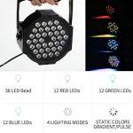 AONCO 36W Projecteur Disco Par Led Dmx Projecteur Lumière Jeu de Lumière à 36 LED Sound Auto Stroboscope Mode Lumière dj Lampe de Scène Lumière Disco Soirée Anniversaire Mariage 220V de la marque AONCO image 2 produit