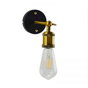 Applique Murale Industrielle Edison Lamp Lampe Murale Rétro Éclairage Metal E27 Idéal Pour Cuisine Salle À Manger Loft Bar Café (Ampoule Non Incluse) de la marque PPQPP image 0 produit