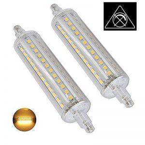AscenLite 10W R7S Pas Dimmable, Pack of 2, J118 Ampoule LED 220-240V 118mm Blanc chaud 100W Ampoule halogène Double Ended J type Replacement de la marque AscenLite image 0 produit