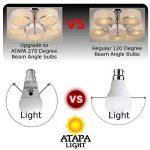 ATAPA 6 x SMD LED Ampoule 7W B22 , 560 lm, avec un angle de faisceau de 270°,Équivalence lampes à incandescence 60W, lumière des LED très claire et naturelle, blanc chaud 3000 K, A60, baïonnette, éclairage encastré pour douche, salle de bain, cuisine, sal image 1 produit