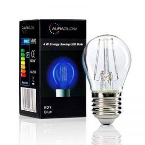 Auraglow 4w E27 vis G45 balle de golf filament couleur couleur LED ampoule - Bleu de la marque Auraglow image 0 produit