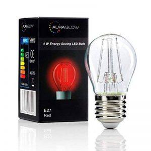 Auraglow 4W E27 Vis G45 Golf Ball Filament Couleur Couleur Ampoule LED - Rouge de la marque Auraglow image 0 produit
