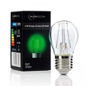 Auraglow 4W E27 Vis G45 Golf Ball Filament Couleur Couleur Ampoule LED - Vert de la marque Auraglow image 0 produit