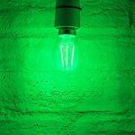Auraglow 4W E27 Vis G45 Golf Ball Filament Couleur Couleur Ampoule LED - Vert de la marque Auraglow image 1 produit
