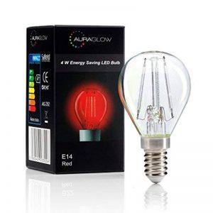 Auraglow - Ampoule LED E14 SES G45 à filament colorées - 4 W - En forme de balle de golf - Rouge de la marque Auraglow image 0 produit