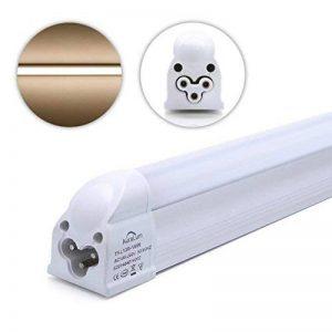 Auralum Réglette LED avec Sopport 16W Lot de 4 Tube Néon LED T5 120CM Fluorescent LED Fluo Lumière Blanc Chaud 2800K SMD 3535 Economie D'Énergie de la marque AuraLum image 0 produit