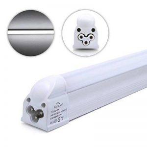 Auralum Réglette LED avec Sopport 8W Lot de 2 Tube Néon LED T5 60CM Fluorescent LED Fluo Lumière Blanc Froid 6000K SMD 3535 Economie D'Énergie de la marque AuraLum image 0 produit