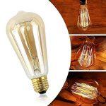 Aurora E27 Edison Ampoule Vintage, E27 Ampoules à incandescence Rétro,ST64 220-240V 40W Edison Ampoule Antique Lampe Blanc Chaud- (3pack) de la marque Anhichef image 3 produit