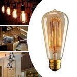 Aurora E27 Edison Ampoule Vintage, E27 Ampoules à incandescence Rétro,ST64 220-240V 40W Edison Ampoule Antique Lampe Blanc Chaud- (3pack) de la marque Anhichef image 4 produit
