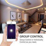 Avatar Controls Smart Ampoule, GU10 à intensité variable Smart Prime Ampoules LED avec App télécommande Interrupteur on/off/couleur Lampe, compatible avec Amazon Alexa/Google Assistant/IFTTT, Lot de 2 de la marque Avatar Controls image 3 produit