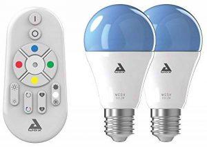 AwoX SKR2Lm-C9-E27 Smartlight Kit de 2 Ampoules Connectées Bluetooth Mesh + Télécommande E27 9 W Blanc Résine/Plastique 64 x 116 mm de la marque AWOX image 0 produit