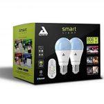 AwoX SKR2Lm-C9-E27 Smartlight Kit de 2 Ampoules Connectées Bluetooth Mesh + Télécommande E27 9 W Blanc Résine/Plastique 64 x 116 mm de la marque AWOX image 1 produit