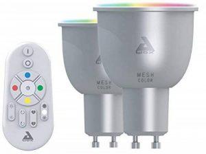 AwoX SKR2LMC5GU10 Set de 2 Ampoules LED et Télécommande, Plastique/Résine, GU10, 30 W, Blanc de la marque AWOX image 0 produit