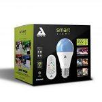 AwoX SKRLm-C9-E27 Smartlight Kit d'Ampoule Connectée Bluetooth Mesh + Télécommande 27 9 W Blanc Résine/Plastique 63 x 116 mm de la marque AWOX image 1 produit