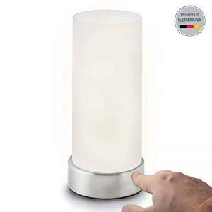 B.K. Licht lampe de chevet tactile 3 intensités, lampe de table avec fonction Touch, lumière de lecture, luminaire chambre enfant, 3 niveaux de luminosité, E14, 230V, IP20 de la marque B.K.Licht image 0 produit