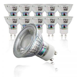 B.K. Licht lot de 10 ampoules LED GU10, 5W équivaut 50 W halogène, 400lm, lumière blanche chaude, classe energétique A+, Ø 50 mm de la marque B.K.Licht image 0 produit