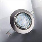 B.K. Licht lot de 10 spots LED encastrables ultra-plats, 10x5W, 250lm, orientables, 230V, classe énergétique A+, profondeur d'encastrement 30mm de la marque B.K.Licht image 3 produit