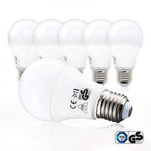 B.K. Licht lot de 5 ampoules LED, E27, éclairage intérieur, lumière blanche chaude, forme ronde, 806lm, 2700K, 230V, 5x9W de la marque B-K-Licht image 0 produit