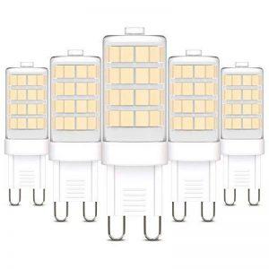 B.K. Licht lot de 5 ampoules LED G9, 5X3,5W, lumière blanche chaude, 320lm, remplace ampoules halogène 30W de la marque B.K.Licht image 0 produit