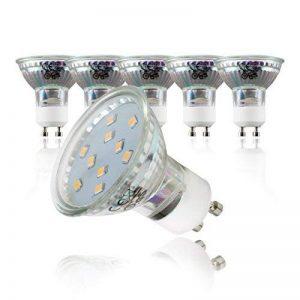 B.K. Licht lot de 5 ampoules LED, GU10, 250 lm, lumière blanche chaude, équivaut lampe halogène 30W, classe énergétique A+, 230V, 5x3W, Ø 58 mm de la marque B.K.Licht image 0 produit