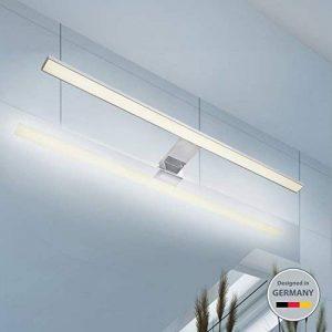 B.K. Licht lumière LED miroir, applique salle de bains, lumière de maquillage, luminaire salle de bains, blanc neutre, 8W, 230V, IP44, largeur 600mm de la marque B.K.Licht image 0 produit
