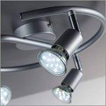 B.K. Licht plafonnier 3 spots pivotants, ampoules LED GU10 fournis, lampe moderne, éclairage intérieur, lumière blanche chaude, chambre salon cuisine salle à manger, 230V, IP20, 3x3W de la marque B.K.Licht image 3 produit