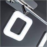 B.K. Licht plafonnier LED 3 spots orientables, spots plafond modernes, plafonnier salon bureau salle à manger cuisine couloir, lumière blanche chaude, 230V, IP20, 3x4W de la marque B.K.Licht image 4 produit